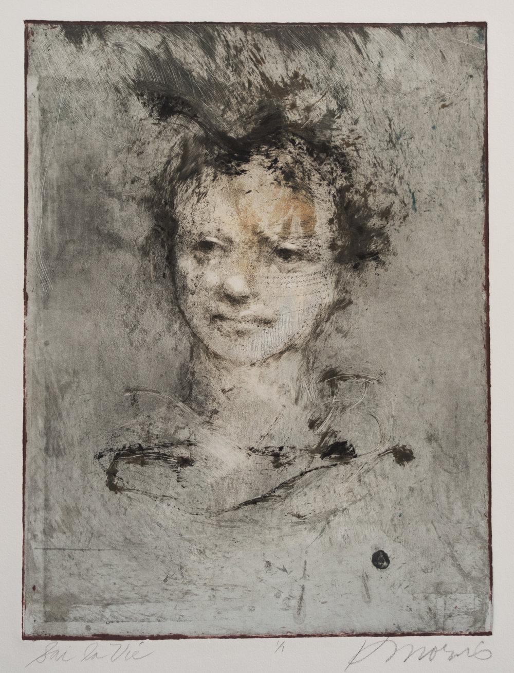 Sai la Vie  Monotype Image size: 16 x 12 inches Paper size: 30 x 22 inches