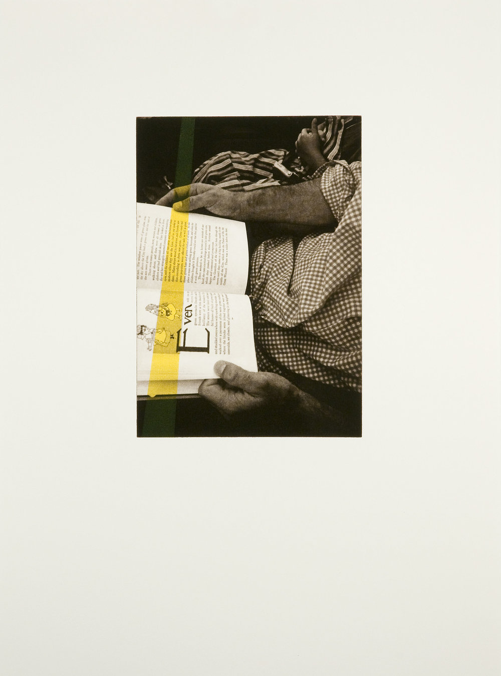 Erika deVries  Even , 2008 Intaglio w/ Monotype Paper size: 22 x 30 inches Image size: 14 x 10 inches