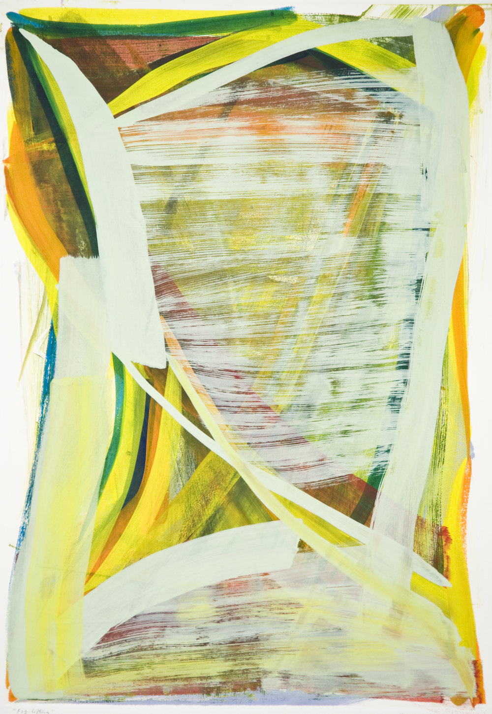 Rosanna Bruno  Untitled , 2008 Monotype Image & paper size: 22 x 30 inches