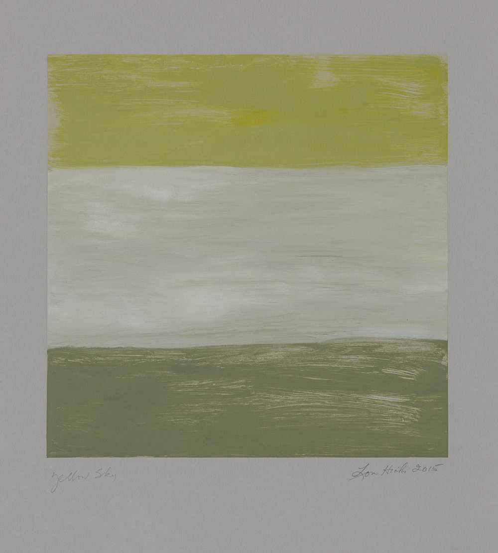Yellow Sky , 2015 Monotype Image size: Paper size: 22 x 30 inches Series of 21
