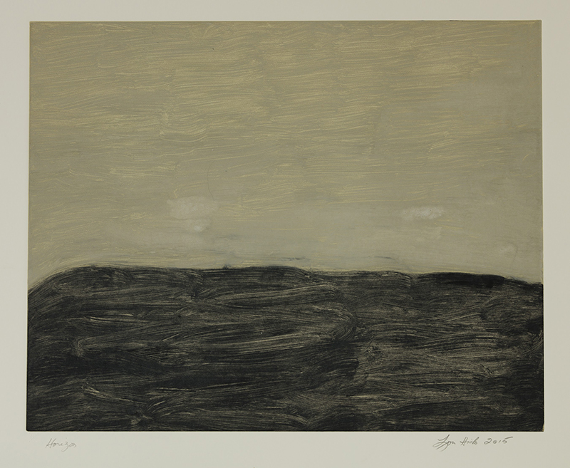 Horizon , 2015 Monotype Image size: 15.75 x 19.75 inches Paper size: 22 x 30 inches Series of 24