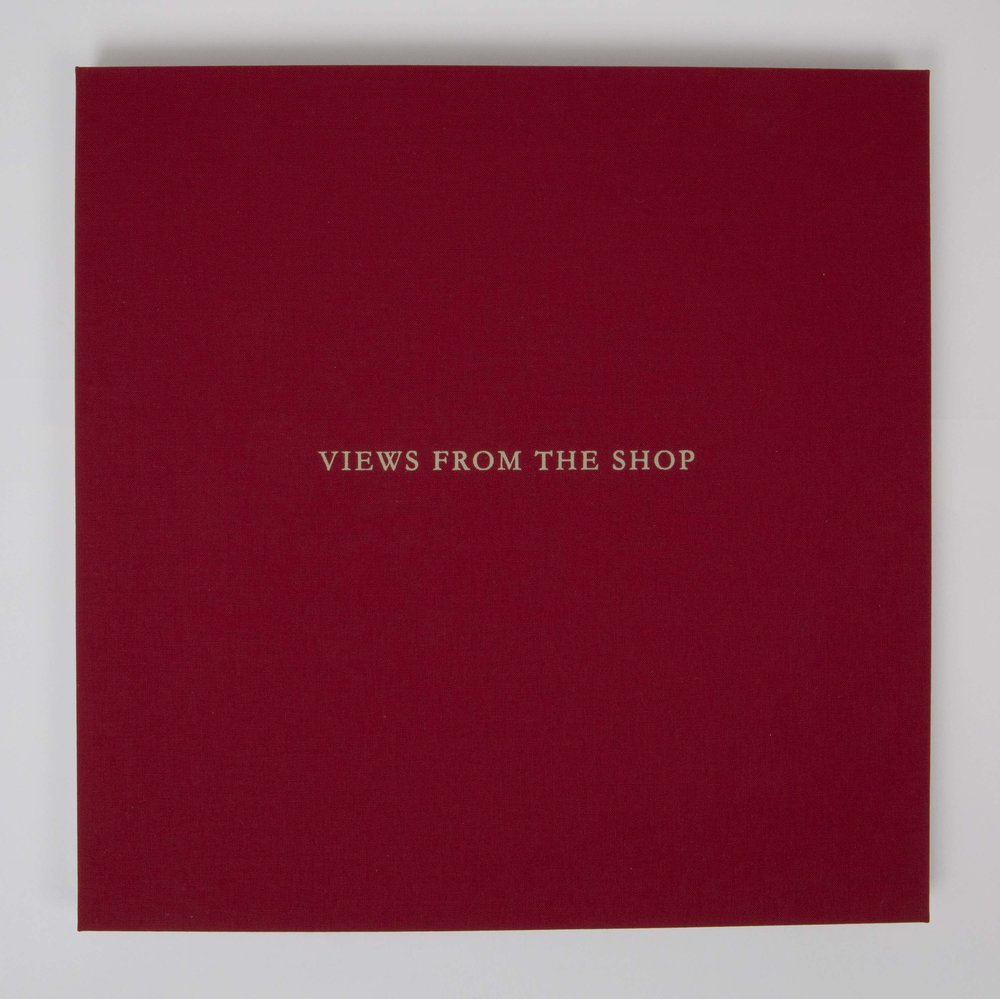 Views from the Shop (Red) , 2016 Monotype Book (Cover) Image size: 7 x 7 inches Book size: 12.25 x 12.25 inches Edition of 10 books with 8 unique monotypes