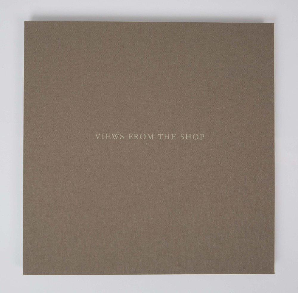Views from the Shop (Dark Tan) , 2016 Monotype Book (Cover) Image size: 7 x 7 inches Book size: 12.25 x 12.25 inches Edition of 10 books with 8 unique monotypes