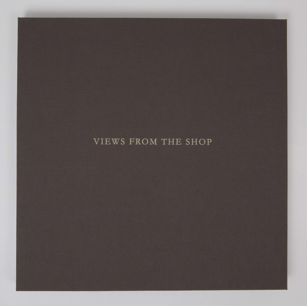 Views from the Shop (Chocolate) , 2016 Monotype Book (Cover) Image size: 7 x 7 inches Book size: 12.25 x 12.25 inches Edition of 10 books with 8 unique monotypes
