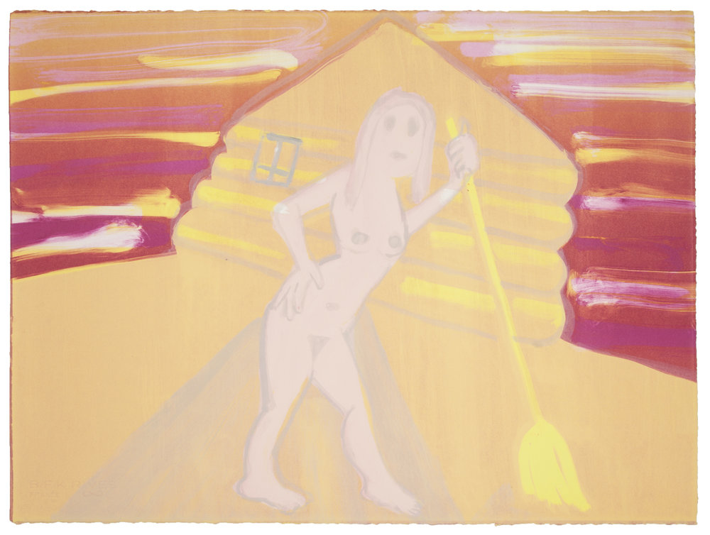 """""""Day tripper"""", 2018  Monotype Image & paper size: 22 x 30 inches Series of 5"""
