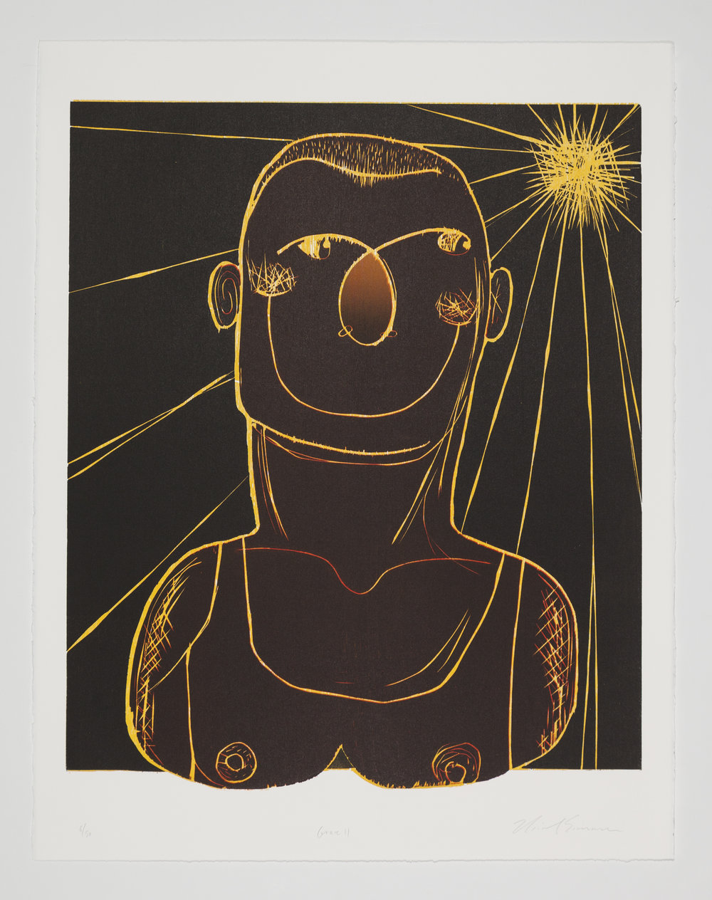 Grace (II) , 2015 Woodcut Image size: 23.75 x 20 inches Paper size: 28.5 x 22.75 inches Edition of 50