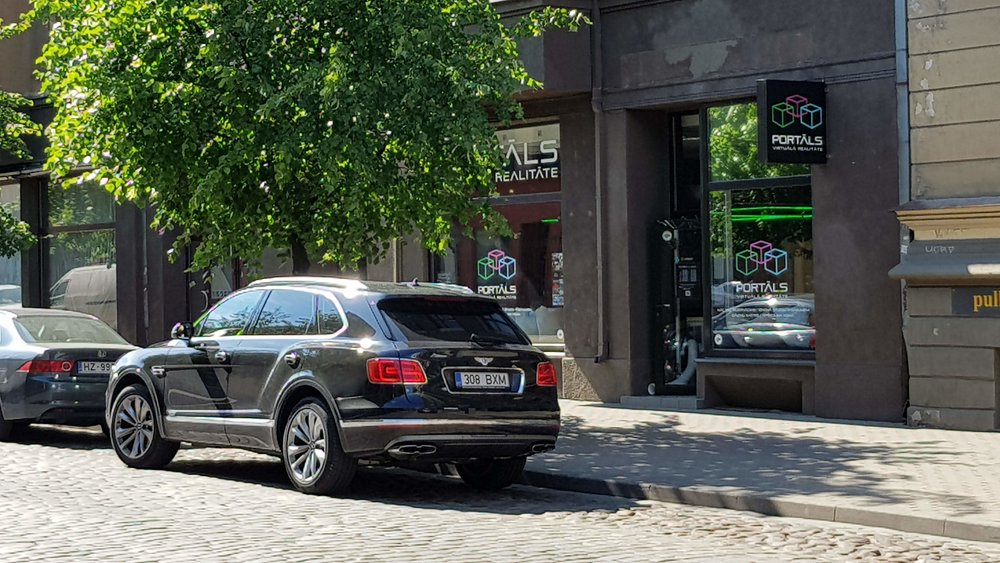 Just a nice car. It's not everyday you have half a million euro parked in front of your door.