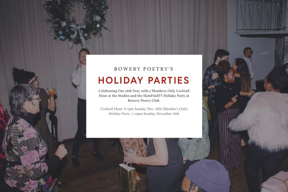 Bowery Poetry's 2018 Holiday Parties