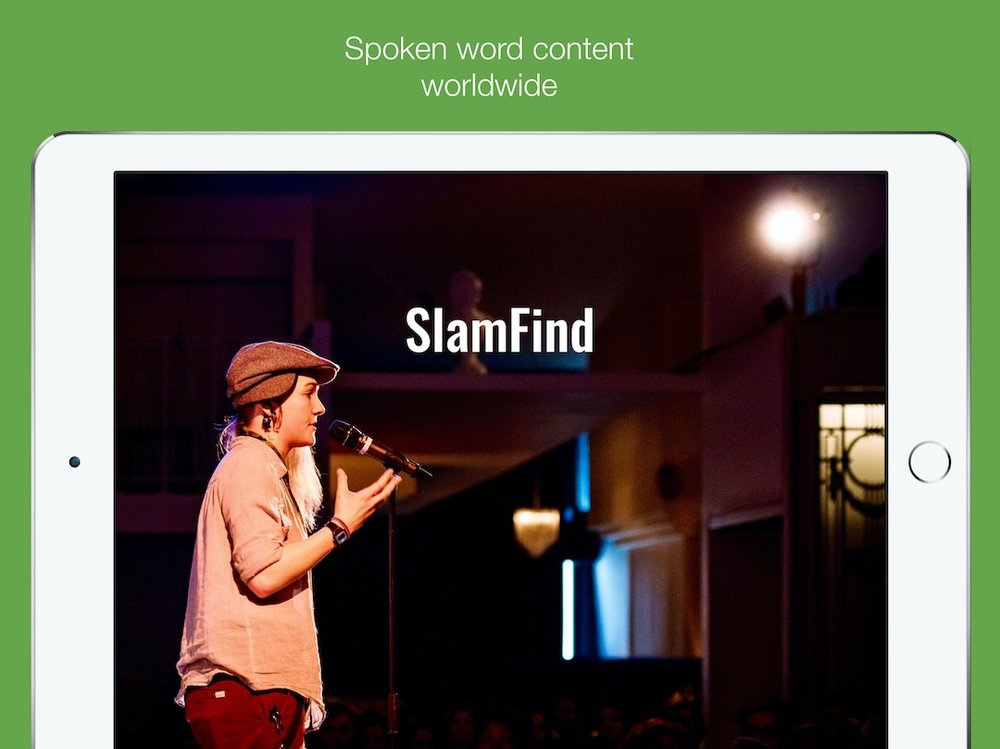 Click to Download SlamFindTV for iOS in the App Store