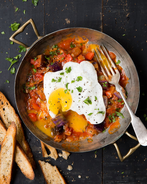 Pistou with Fried Egg