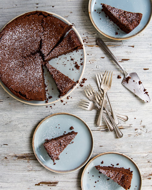 Flourless Chestnut Chocolate Torte