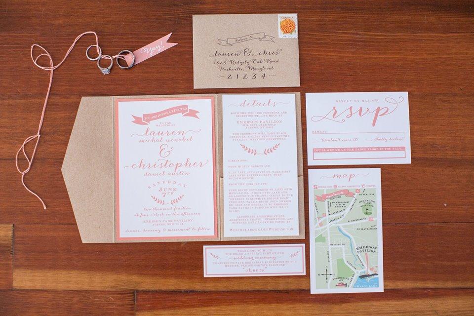 Created, Designed & printed entire wedding suite