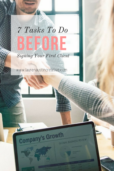 Pin IT - 7 Tasks To complete before signing your first client