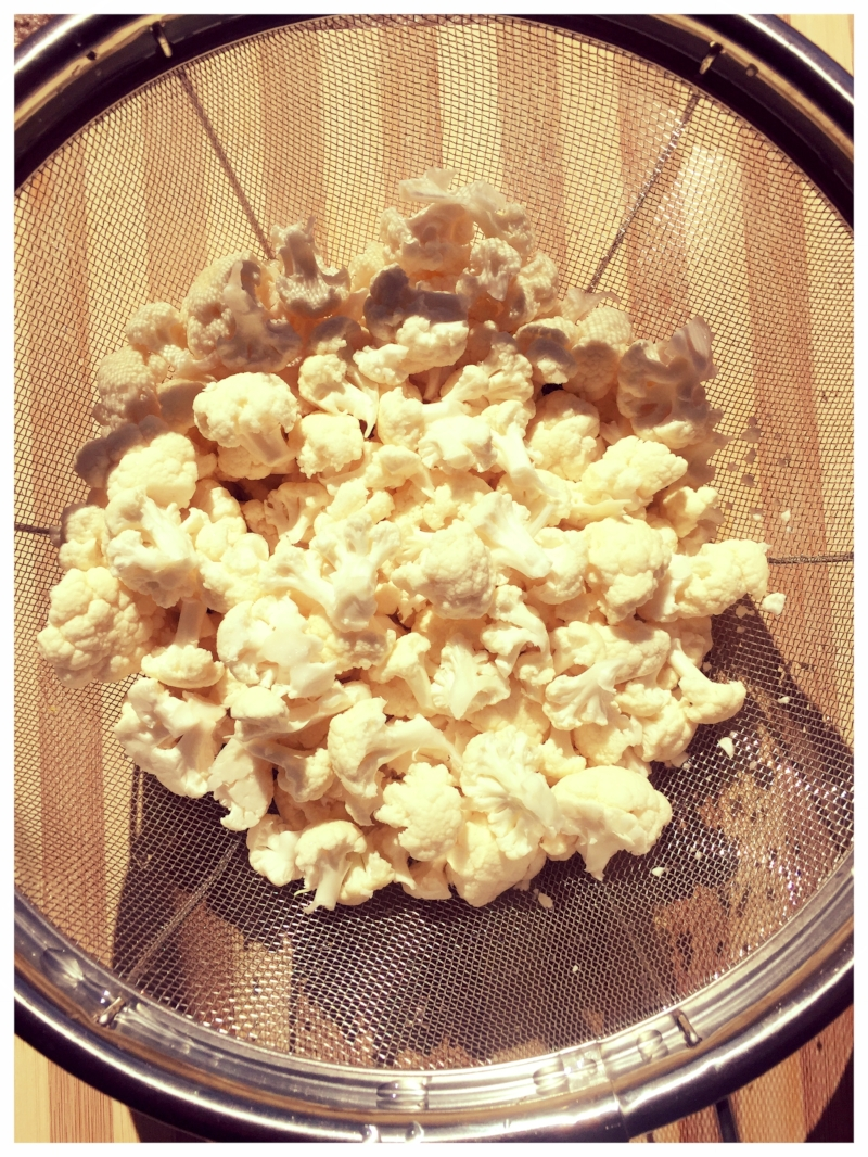This is just cauliflower, but it looks like popcorn if you squint!