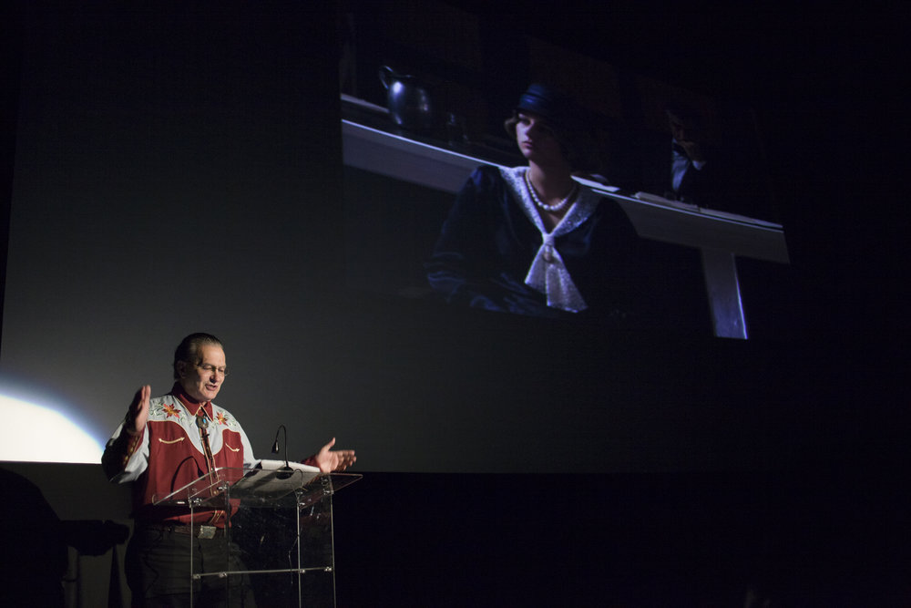 Joe Bob Briggs lecturing at the Chattanooga Film Festival. (Photo: David Andrews)