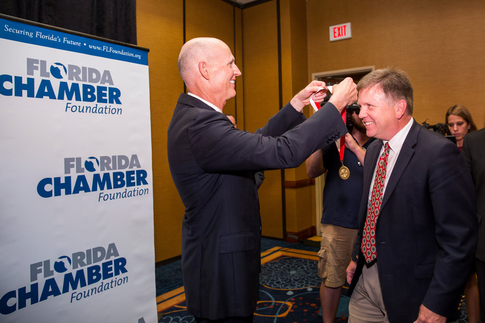 During the Florida Chamber Foundation's 2016 Military, Defense & Veterans Opportunities Summit.