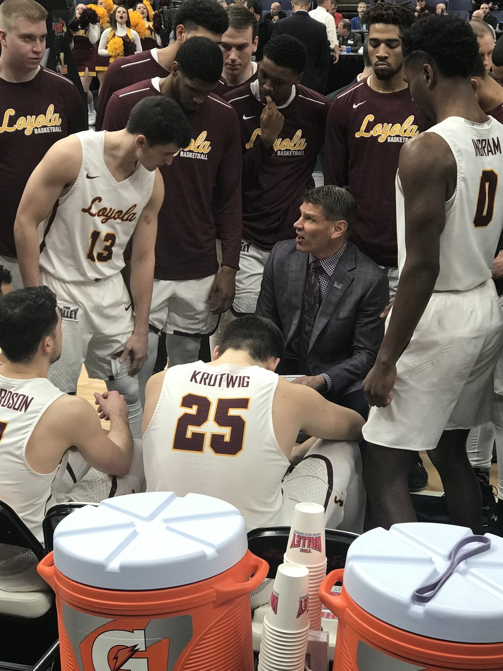Loyola University's basketball team