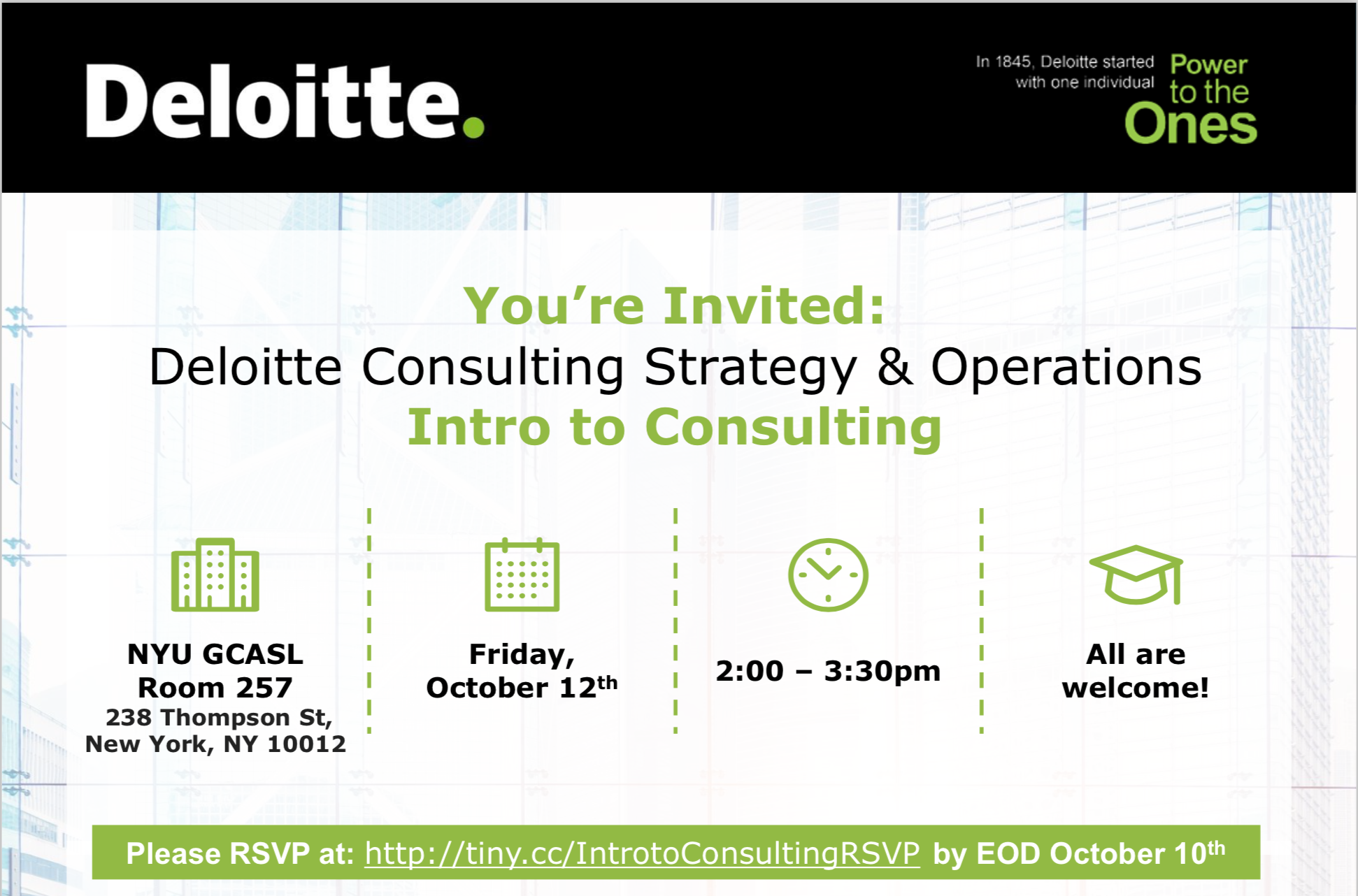 Intro to Consulting hosted by Deloitte — EmpireNYU
