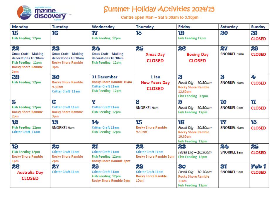Summerholidayprogram2014-15