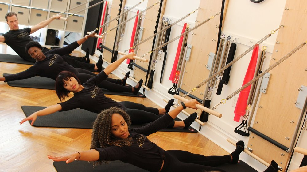 Pilates Tower Class - A mix of matwork with the added strength benefits of the spring resistance