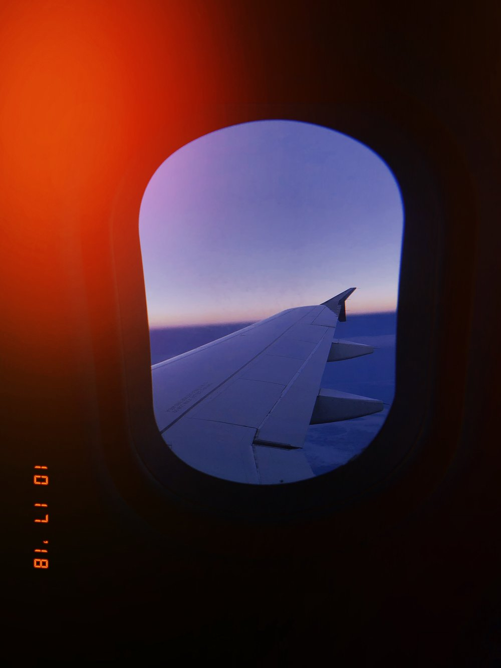 airplane window Mexico shot