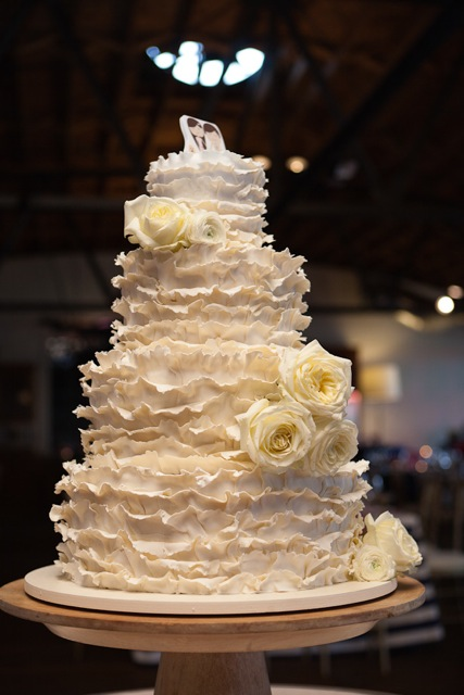 wedding - 4 tier cake with fondant ruffles.jpg