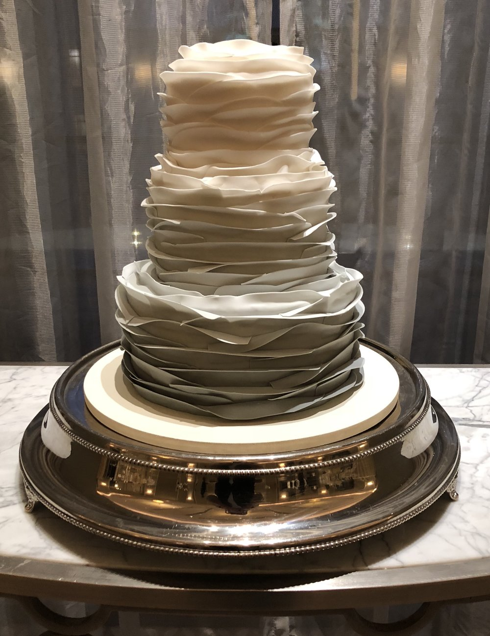 wedding cake - Grey fade ruffle cake.jpeg