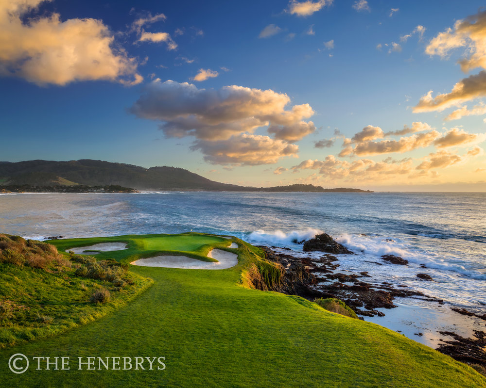"""Evening Glow"" 7th Pebble Beach Golf Links®, California"