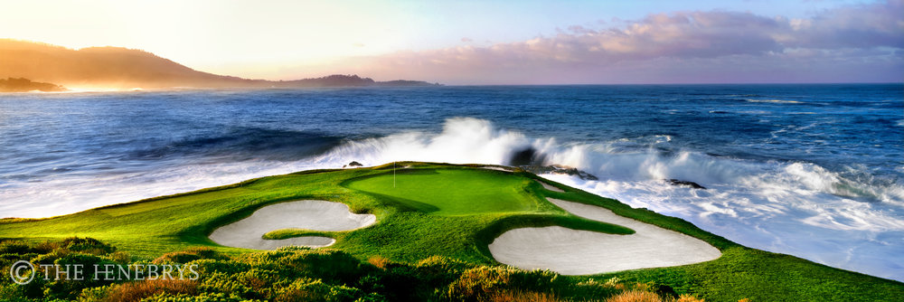 """King Tide"" 7th Pebble Beach Golf Links®, California"
