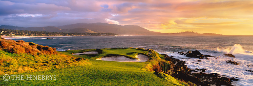 """After The Storm"" 7th Pebble Beach Golf Links®, California"
