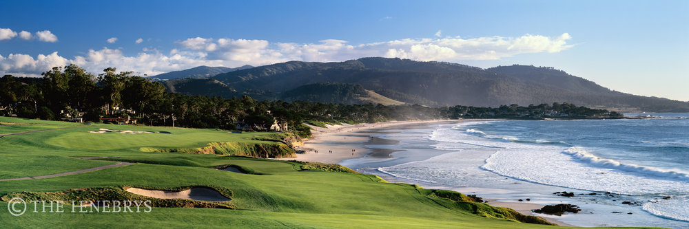 """By The Sea"" 9th Pebble Beach Golf Links®, California"