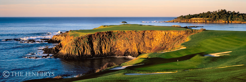 """Dawns Early Light"" 8th Pebble Beach Golf Links®, California"