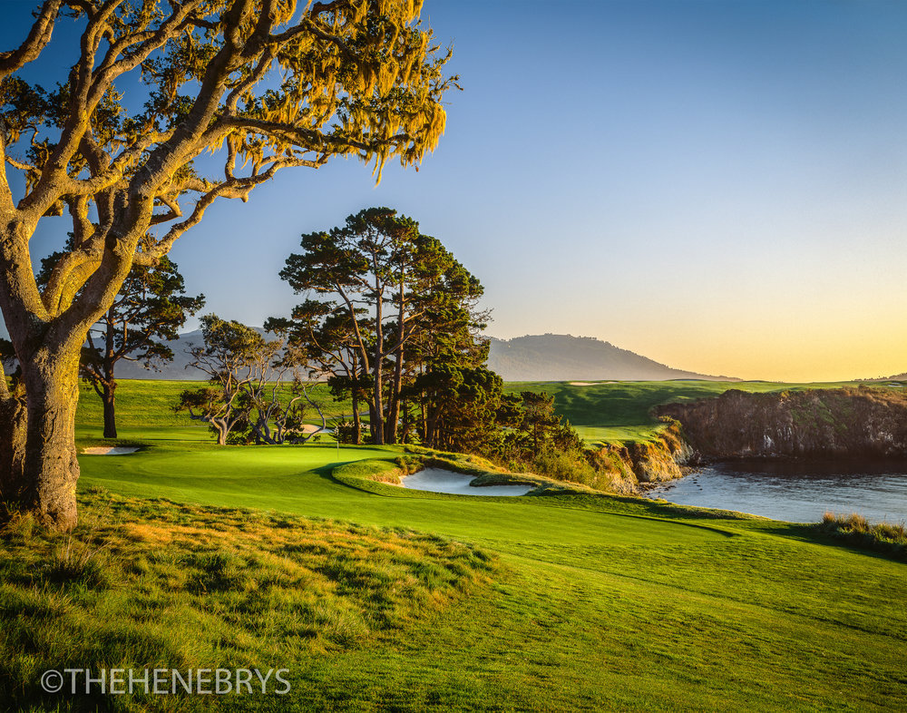 """California Gold"" Pebble Beach Golf Links®, California"