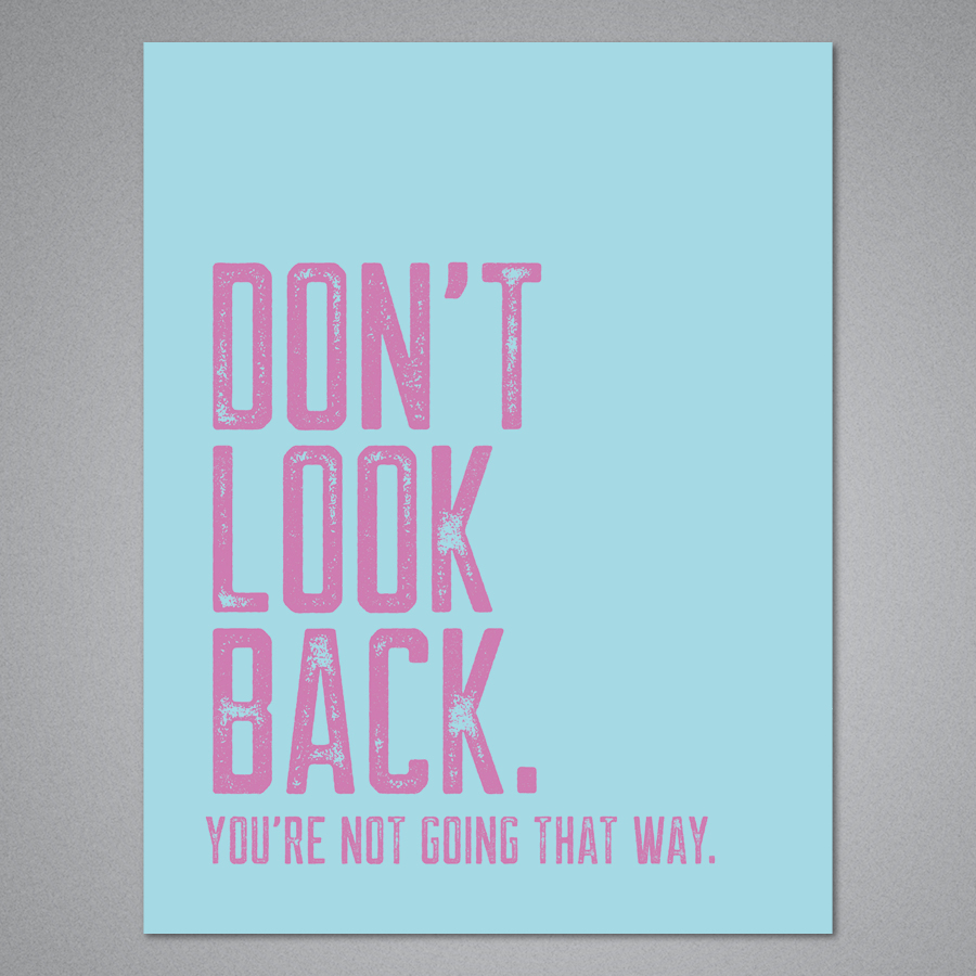 Don't Look Back Card