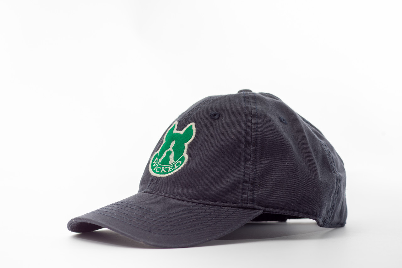 3d602de73ea Adjustable Navy Golf Hat Kelly Green Logo — Wicked Dog Apparel