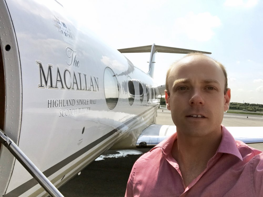 Collaboration with  Macallan  Private Jet.