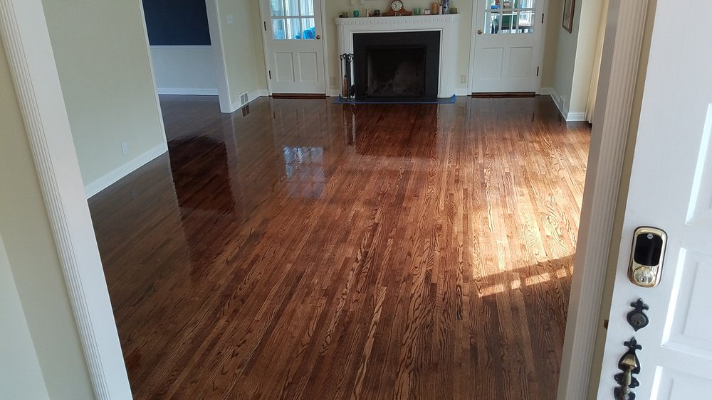 Recoating - Floors in overall good condition showing signs of wear and tear often benefit from recoating. To bring worn out floors back to life, we lightly screen or buff your floor, clean it, and finish with one to two fresh coats of polyurethane.
