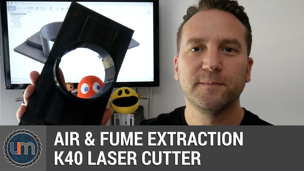 K40 Laser Cutter - Air & Fumes Extraction — Unexpected Maker