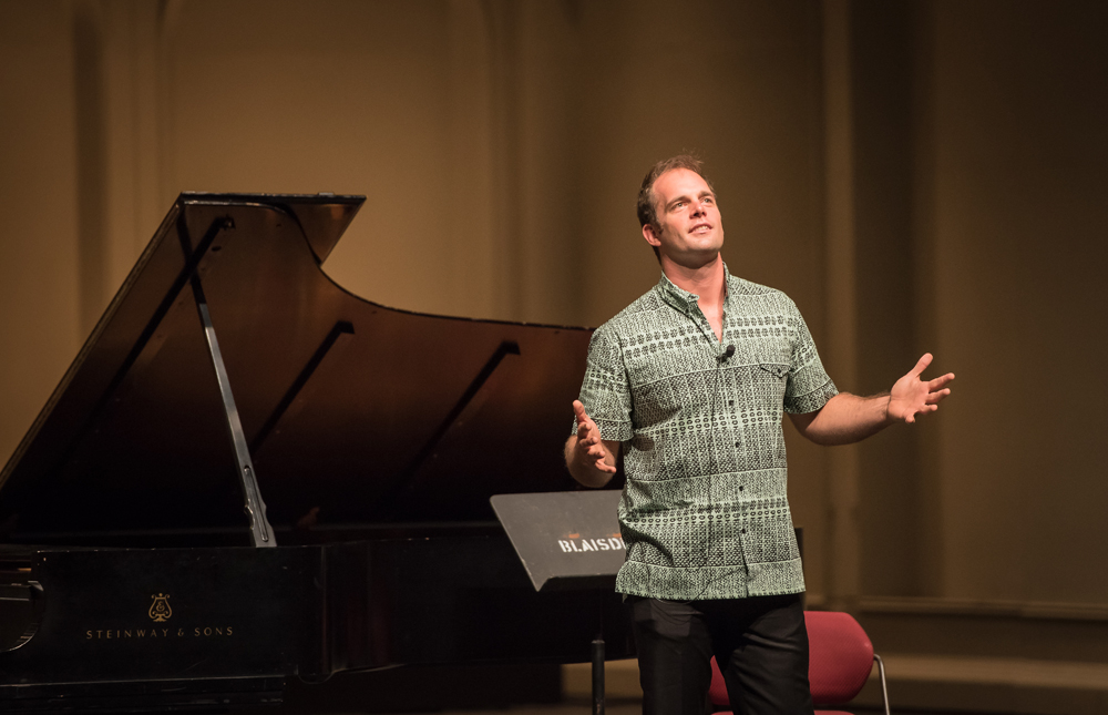 Will Lydgate, chocolatier, opening Blaisdell Concert