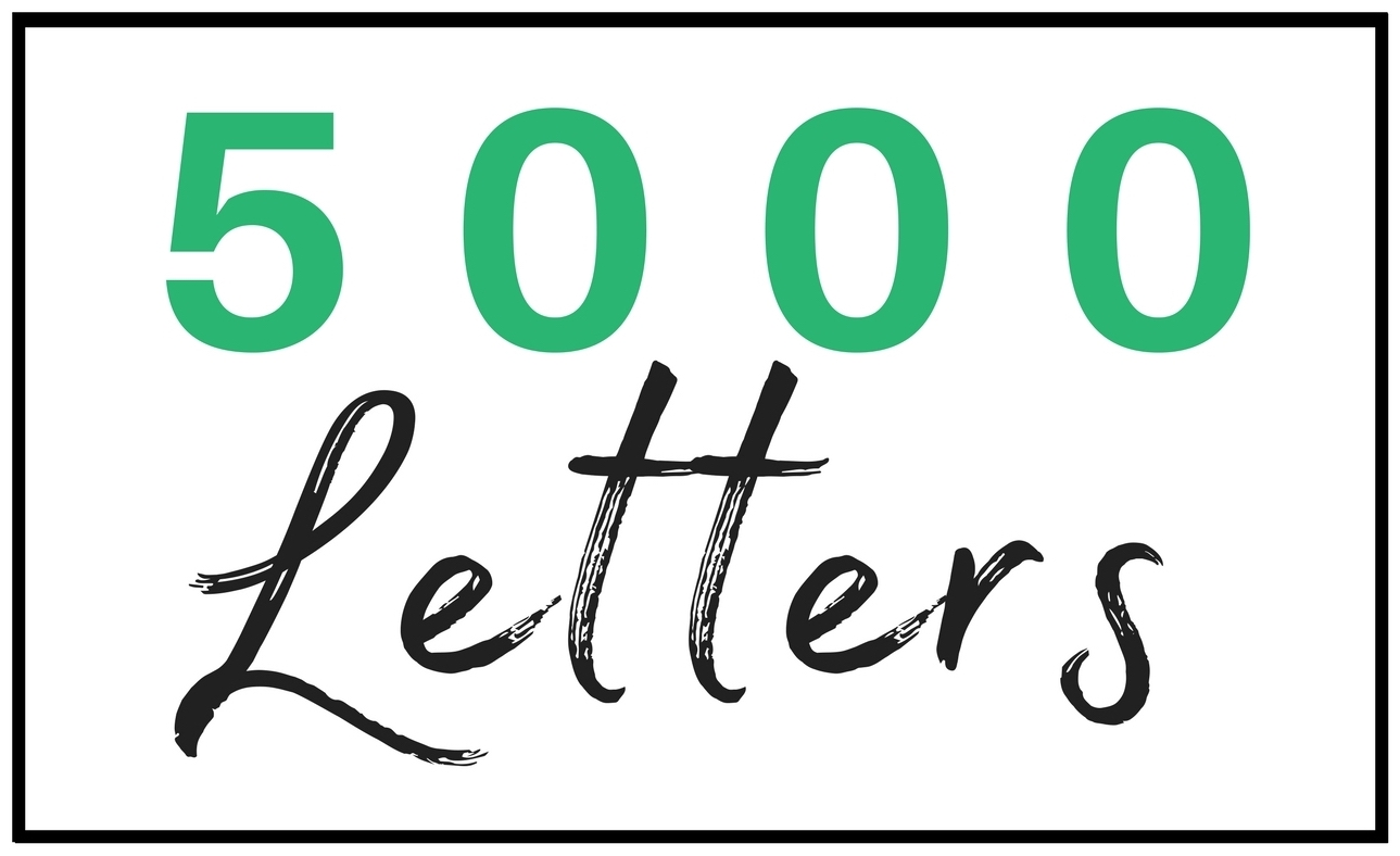 5000 Letters
