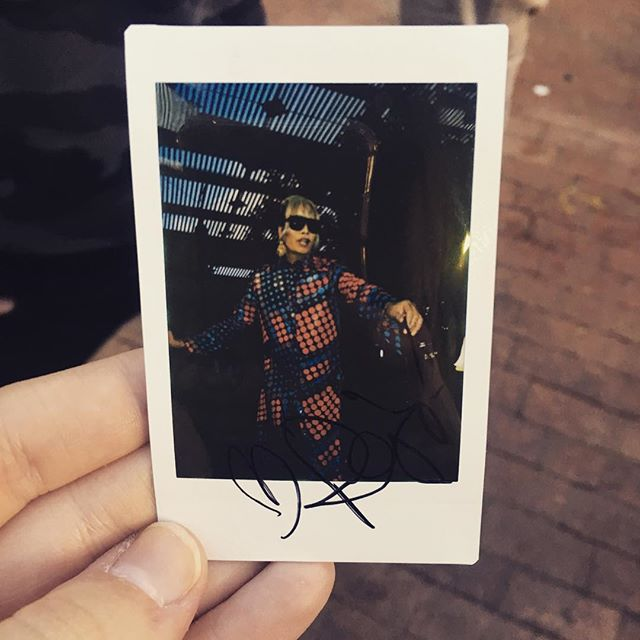 I took a Polaroid of Raja and she signed it on stage my heart is full 🌈❤️ @sutanamrull thank you for making my day  #polaroid #yasqueen #werk #thankyou #inspired #alltimefavorite #raja