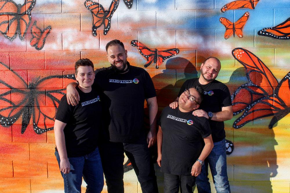 From left to right: Shawna Hoelscher, Andrew Rascon, Steven Spencer, Ricky Sedillo.