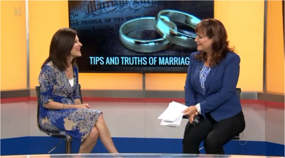 Click above for fox2 in the morning ... tips and truth of marriage.