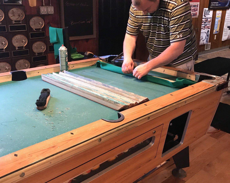 Repair Recover Rerubber Korys Pool Table Service - Pool table rail repair