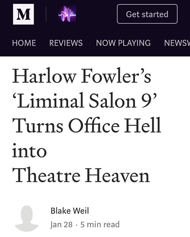 Thanks to @no_proscenium for reviewing our January show. You can read the review on their site noproscenium.com. #liminalsalon #immersivetheatre