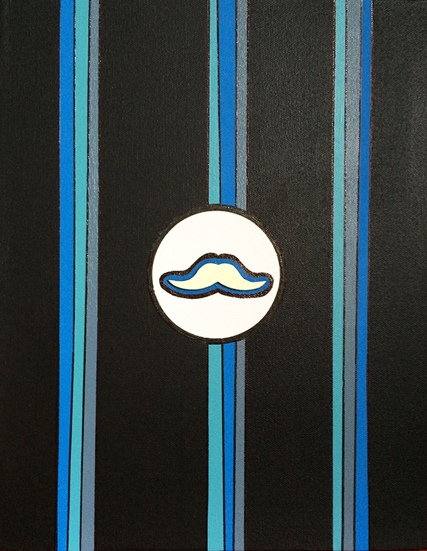 "Monsieur Moustache ""B"""