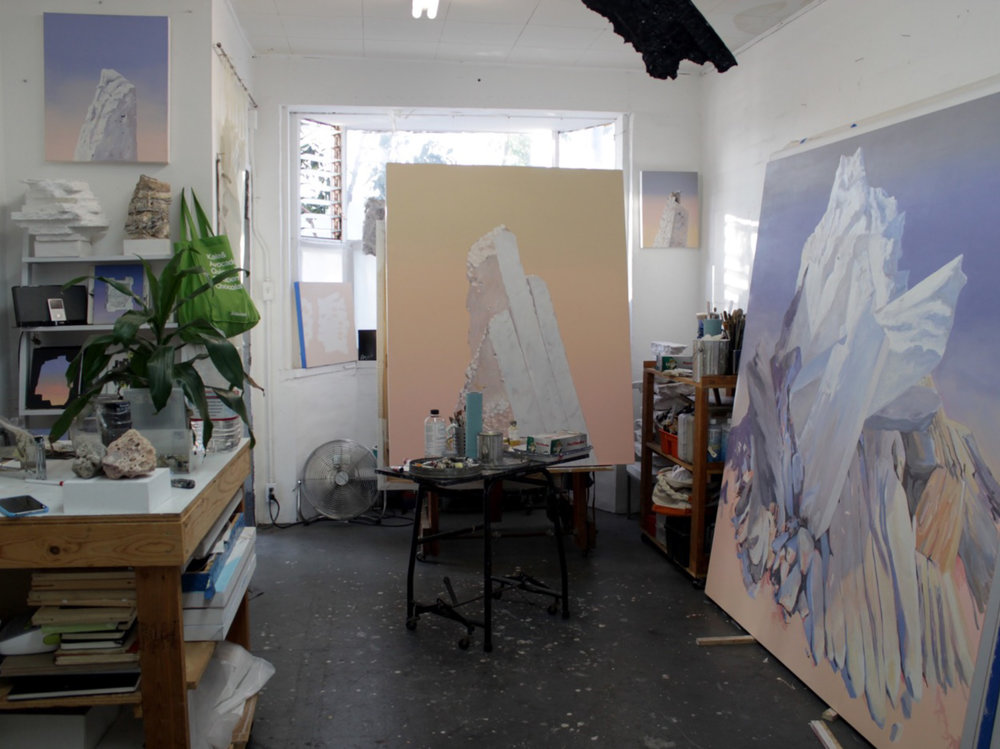 Sonja Schenk - Artist studio. Prepping for SHOW in April