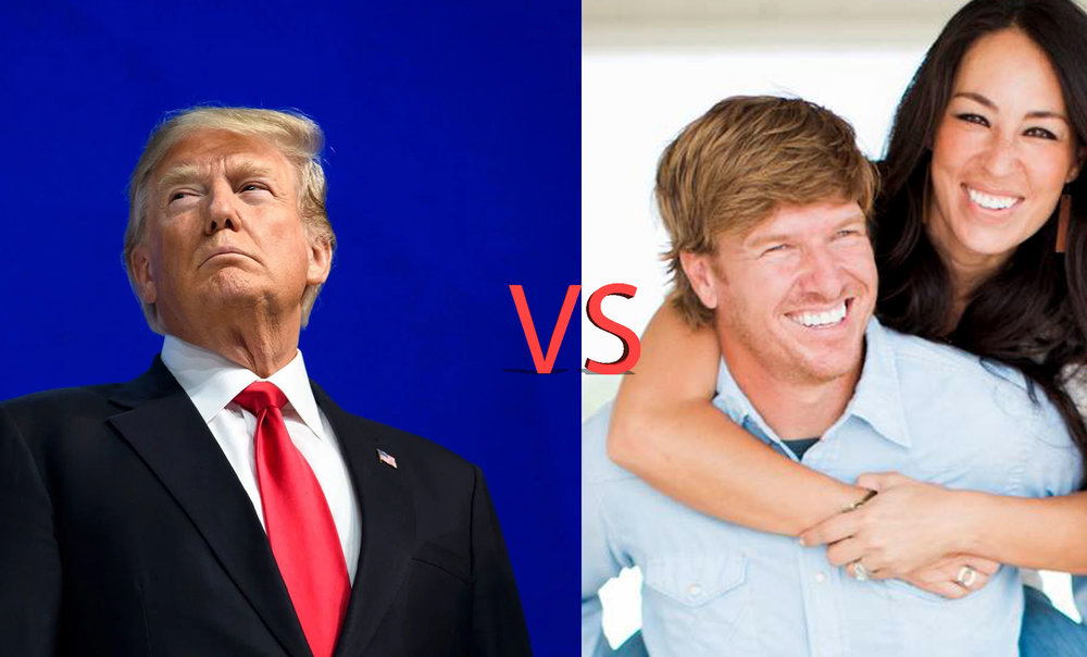 Donald Trump vs Chip and Joanna Gaines.     My latest piece, where I contrast the most authentic politician in American history with arguably one of the most authentic American brands sweeping the nation today. This contrast captures what I think is perhaps the most important need in American culture today.   Let me explain...