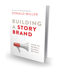 """Building A Story Brand     I'm excited to go through this process with Donald Miller. Something I thoroughly enjoyed was his spin on the seven universal elements of powerful stories. In other words, using stories to improve how businesses connect with their customers, and in essence grow their business.  I have enjoyed getting to know him and really urge someone looking for help clarifying their message, cause, or maybe even brand to check-out his book.   O  rder """"Building a Story Brand"""""""