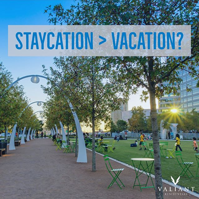"""Post-holiday blues got you down? Why not take a """"staycation"""" and explore your own city like a tourist, before settling back home to your expertly managed Valiant Residential community.  #bevaliant #propertymanagement #multifamily #texasproperties #apartmentliving #apartments #management #dallas #fortworth #austin #houston #living #apartmenttherapy #vacation #staycation #explore #city #tourist #fun  Check out the link below for the top 20 tourist attractions & events in Dallas-Ft. Worth.  http://ow.ly/nEkb30nbZEW"""